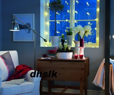 IKEA KALLT STAR LIGHTS Curtain STARS LED Xmas Wedding Glansa Strala