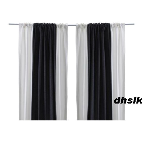 Ikea hedda rand drapes curtains bold stripe black white Bold black and white striped curtains