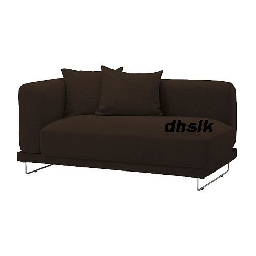 IKEA TYLOSAND 2 Seat 1 Arm Sofa COVER REPHULT DARK BROWN TYL�SAND Loveseat Slipcover