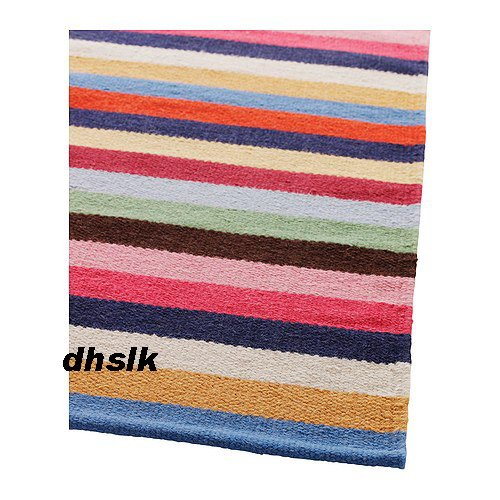 Ikea UNNI Multicolour STRIPED HANDWOVEN Area RUG Runner