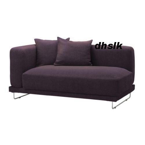ikea tylosand 2 seat 1 arm sofa cover rephult purple