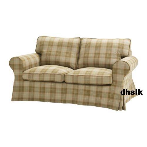 ikea ektorp 2 seat sofa slipcover loveseat cover rutvik beige