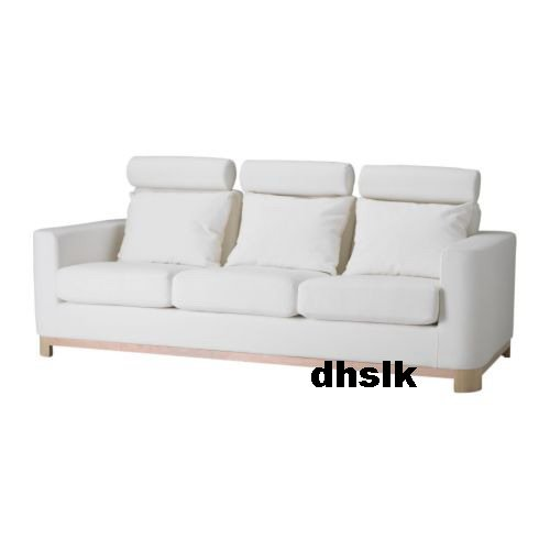 ikea s len salen 3 seat sofa slipcover cover saganas white bezug. Black Bedroom Furniture Sets. Home Design Ideas