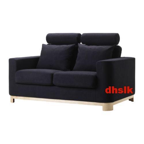 IKEA S�LEN Salen 2 Seat SOFA SLIPCOVER Loveseat Cover FLISBY DARK GRAY Grey
