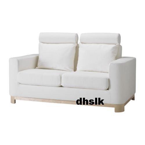 IKEA S�LEN Salen 2 Seat SOFA Slipcover COVER Saganas WHITE Last One