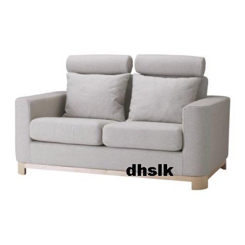 IKEA S�LEN Salen 2 Seat SOFA SLIPCOVER Cover FJALLBACKA Natural