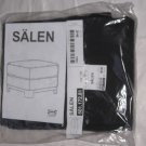 IKEA SÄLEN Salen OTTOMAN Footstool SLIPCOVER Cover FLISBY DARK GRAY Grey