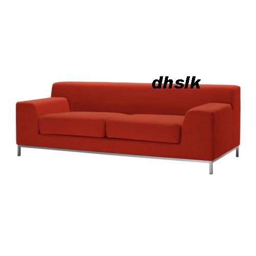 Ikea Kramfors 3 Seat Sofa Slipcover Cover Myrby Red