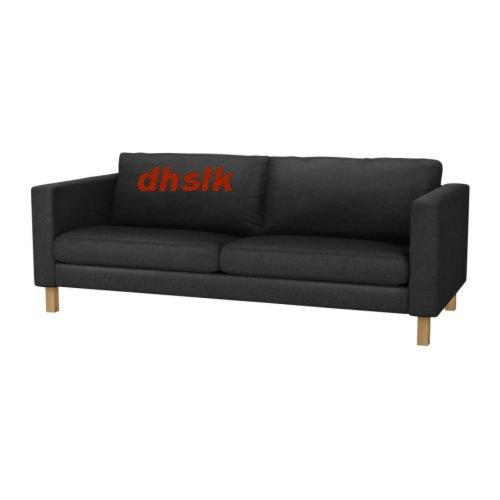 Ikea Karlstad 3 Seat Sofa Slipcover Cover Ullevi Dark Gray Grey