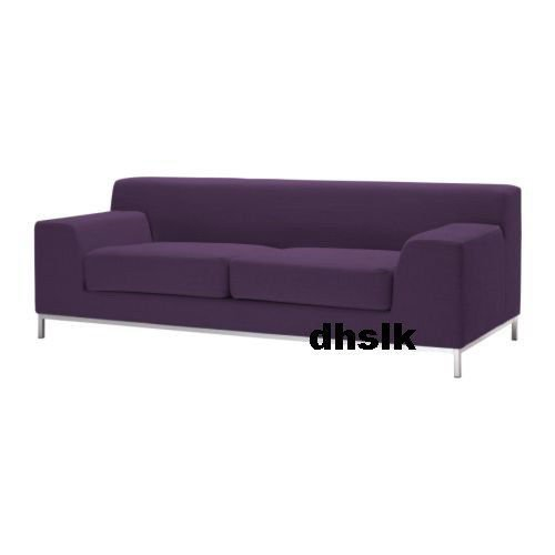 Ikea Kramfors 3 Seat Sofa Slipcover Cover Myrby Lilac Purple Aubergine