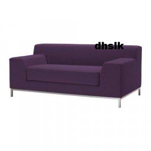 Ikea Kramfors 2 Seat Loveseat Slipcover Cover Myrby Dark Lilac Purple Aubergine
