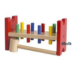ikea wooden wood hammer and peg work bench toy mula