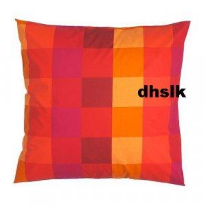 Ikea brunkrissla modern art euro pillow sham orange red for Euro shams ikea
