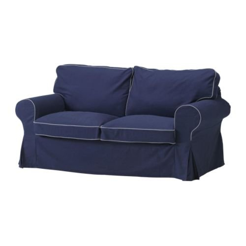 Ikea Ektorp Loveseat Slipcover 2 Seat Sofa Cover Idemo Dark Blue
