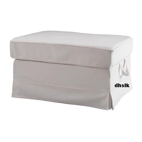 IKEA Ektorp BROMMA Footstool SLIPCOVER Cover BLEKINGE WHITE