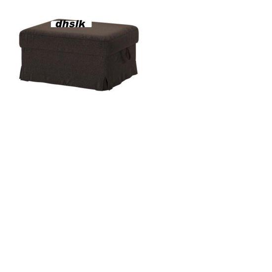 IKEA Ektorp BROMMA Footstool SLIPCOVER Cover KORNDAL DARK BROWN
