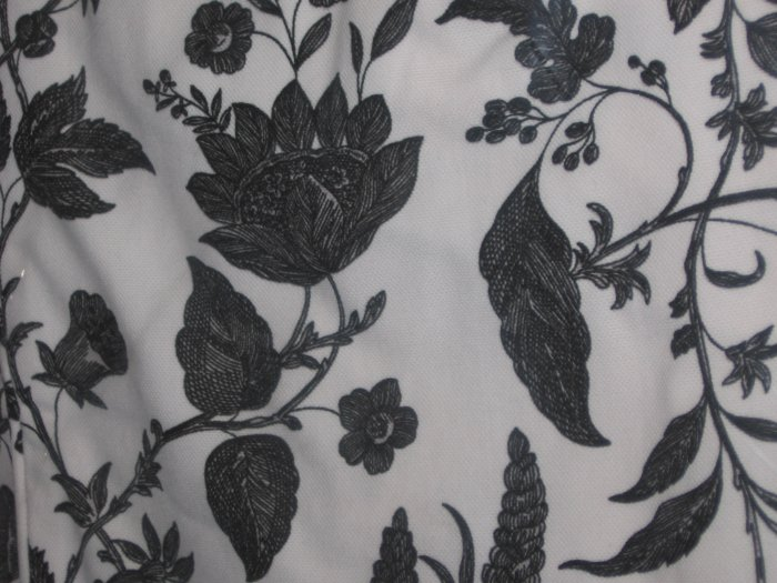 IKEA EKTORP Left Hand CHAISE Longue SLIPCOVER Cover HOVBY Black White FLORAL