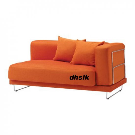 IKEA TYLOSAND 2 Seat 1 Arm Sofa COVER Everod ORANGE TYL�SAND Loveseat Slipcover EVER�D