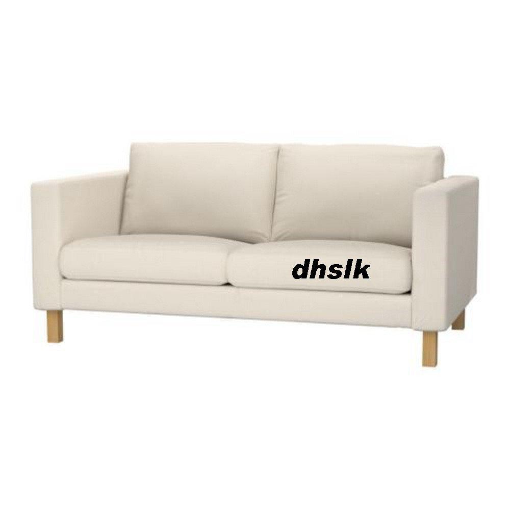 Ikea karlstad 2 seat loveseat sofa slipcover cover linneryd natural beige Ikea karlstad sofa