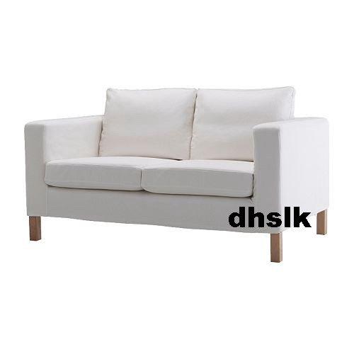 Ikea Karlanda 2 Seat Loveseat Sofa Slipcover Cover Gobo White