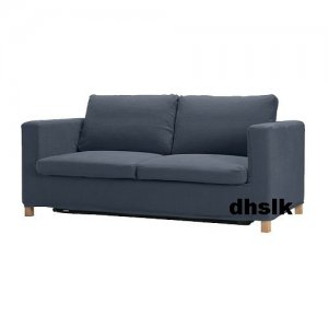 IKEA KARLANDA Sofa Bed SLIPCOVER Cover LINDRIS DARK BLUE Bezug