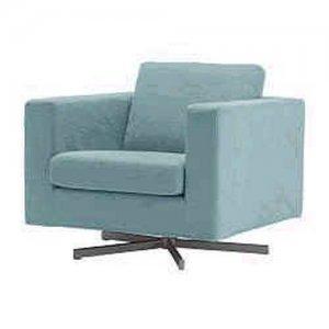 Ikea karlanda armchair chair slipcover cover lindris light blue turq