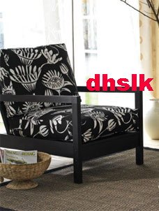 Ikea LILLBERG SLIPCOVER Cover FROARP Black White MOD Floral