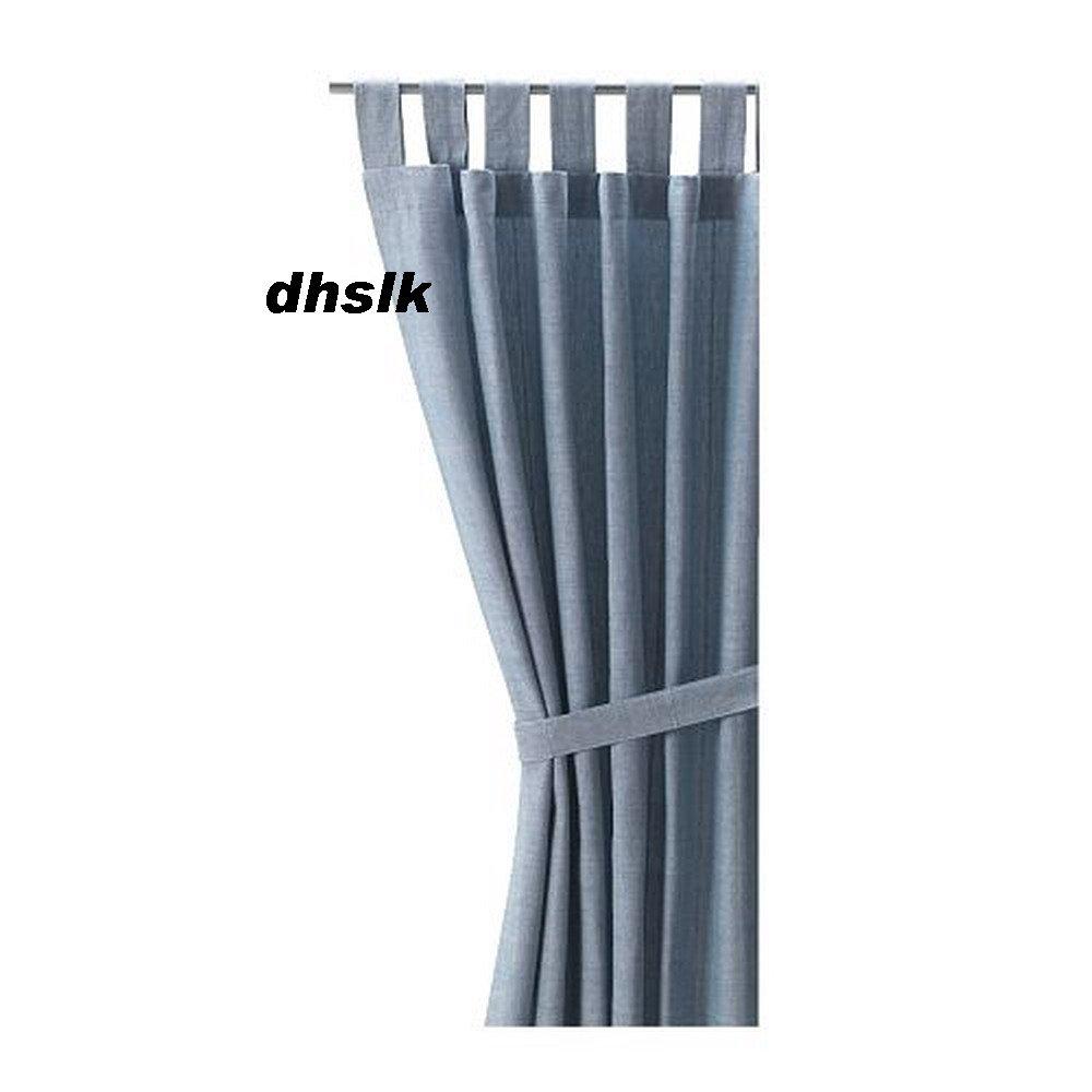 Ikea curtains blue - Ikea Curtains Lenda Ikea Lenda Curtains W Tie Backs Light Blue Cotton 98