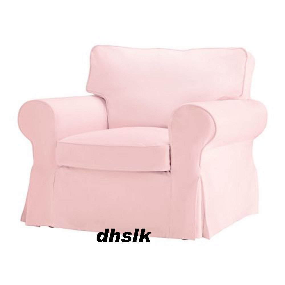 ikea ektorp armchair slipcover cover blekinge pink bezug. Black Bedroom Furniture Sets. Home Design Ideas