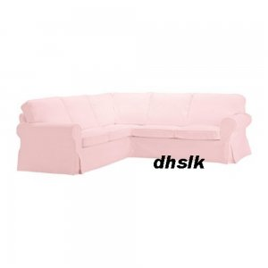 ikea ektorp 2 2 corner sofa cover slipcover blekinge pink. Black Bedroom Furniture Sets. Home Design Ideas