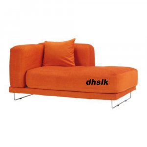 ikea tylosand right hand chaise cover everod orange tyl sand slipcover ever d. Black Bedroom Furniture Sets. Home Design Ideas