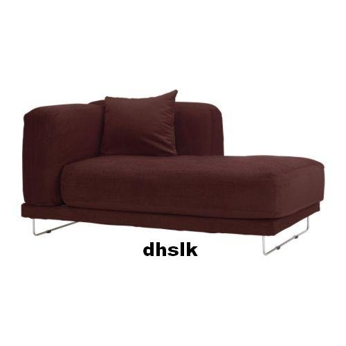 IKEA TYLOSAND Right Hand Chaise COVER Everod DARK RED TYL�SAND Slipcover EVER�D