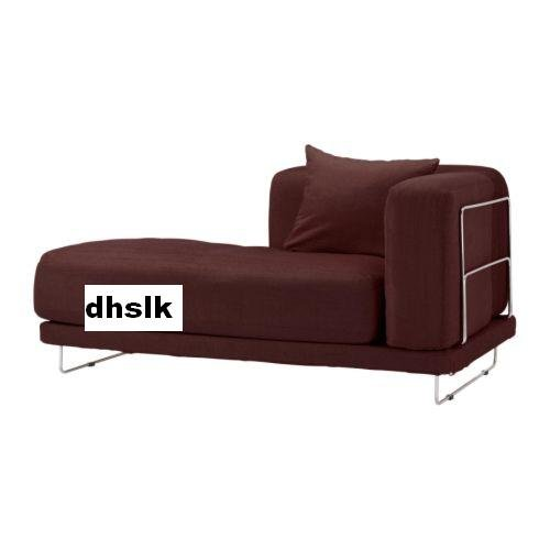 IKEA TYLOSAND Left Hand Chaise COVER Everod DARK RED TYL�SAND Slipcover EVER�D