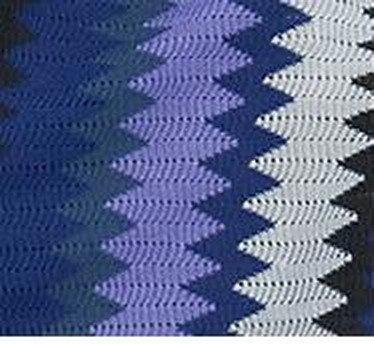 IKEA GILDA STRALE ZigZag Throw BLANKET Afghan SOFT Purple
