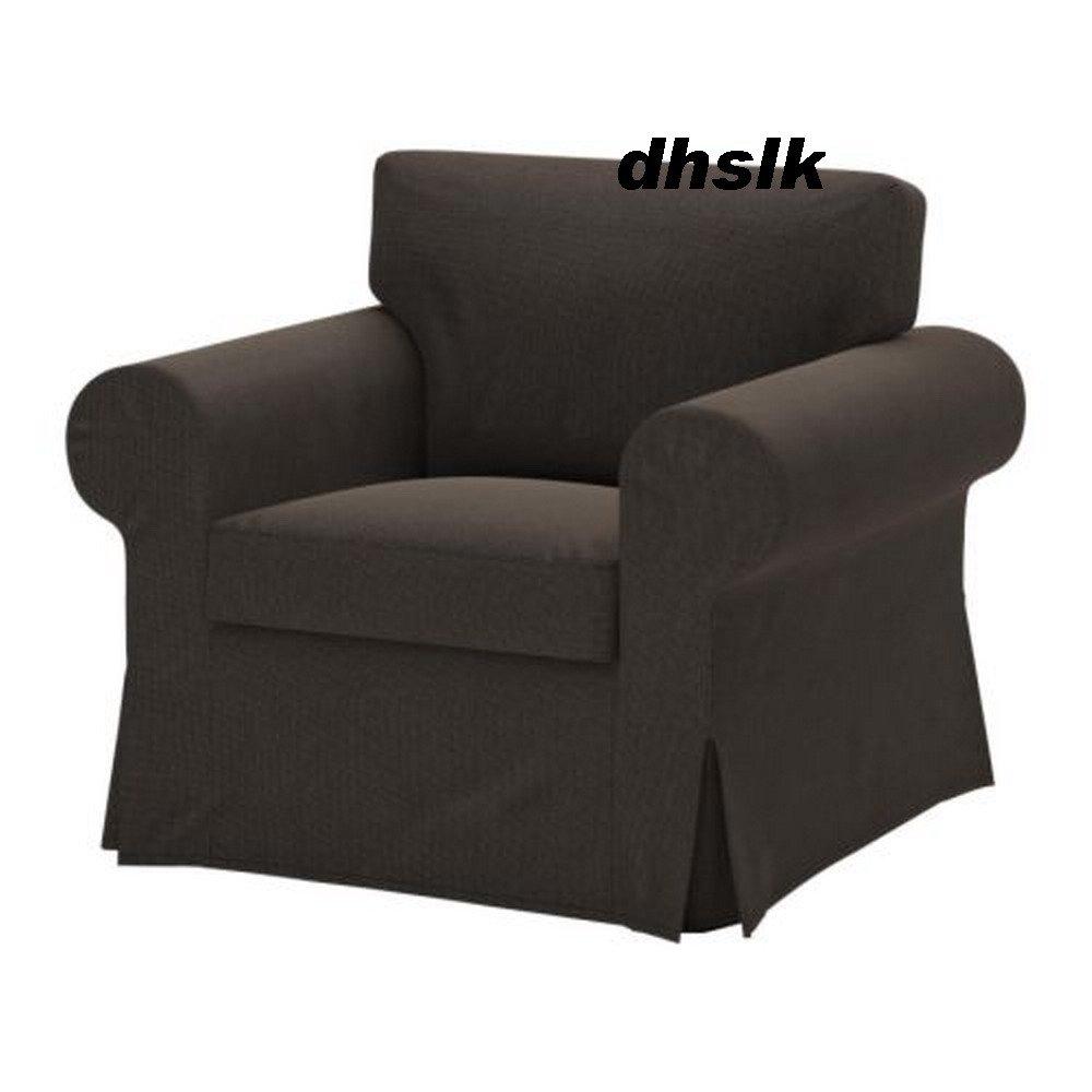 Ikea EKTORP Armchair COVER Korndal BROWN Chair SLIPCOVER  Bezug Housse