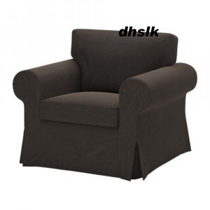 ikea ektorp armchair cover korndal brown chair slipcover. Black Bedroom Furniture Sets. Home Design Ideas