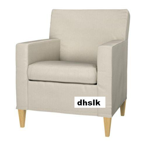 Ikea KARLSTAD Chair SLIPCOVER Armchair Cover LINNERYD ...