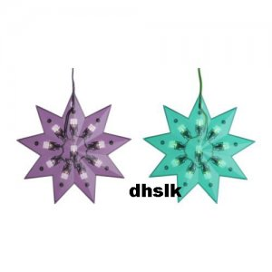 IKEA GL�NSA DIAMANT Glansa XMAS STAR Green LED DECORATION Kallt Strala