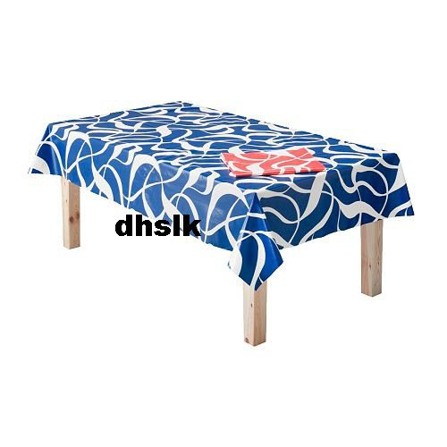 ikea vindpust retro tablecloth blue white mod swirl