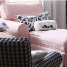 IKEA EKTORP Left Hand CHAISE Longue SLIPCOVER Cover BLEKINGE PINK