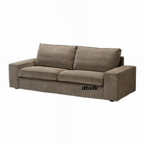 Ikea kivik sofa slipcover cover tranas light brown tran s for Housse sofa ikea
