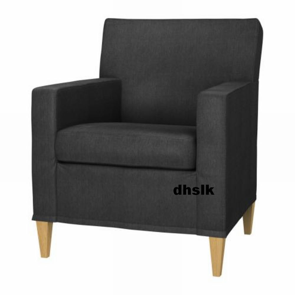 IKEA Karlstad Chair SLIPCOVER Armchair Cover SIVIK DARK GRAY Grey