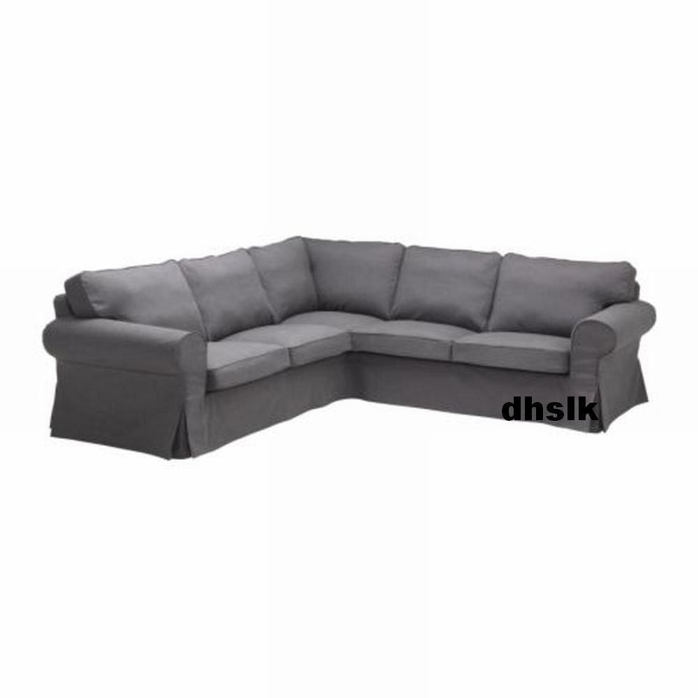 Ikea EKTORP 2+2 Corner Sofa COVER Slipcover SVANBY GRAY