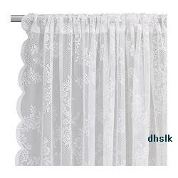 Ikea Alvine Spets White Lace Curtains Drapes Victorian