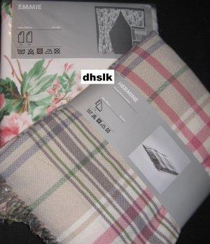 ikea hermine throw blanket afghan pink beige green plaid. Black Bedroom Furniture Sets. Home Design Ideas