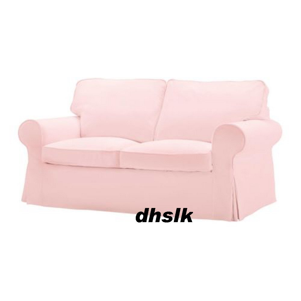 Ikea ektorp 2 seat sofa slipcover loveseat cover blekinge pale pink Cover for loveseat
