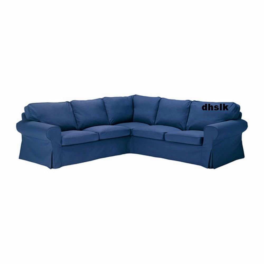 Ikea ektorp 2 2 corner sofa cover slipcover idemo blue for Housse sofa ikea