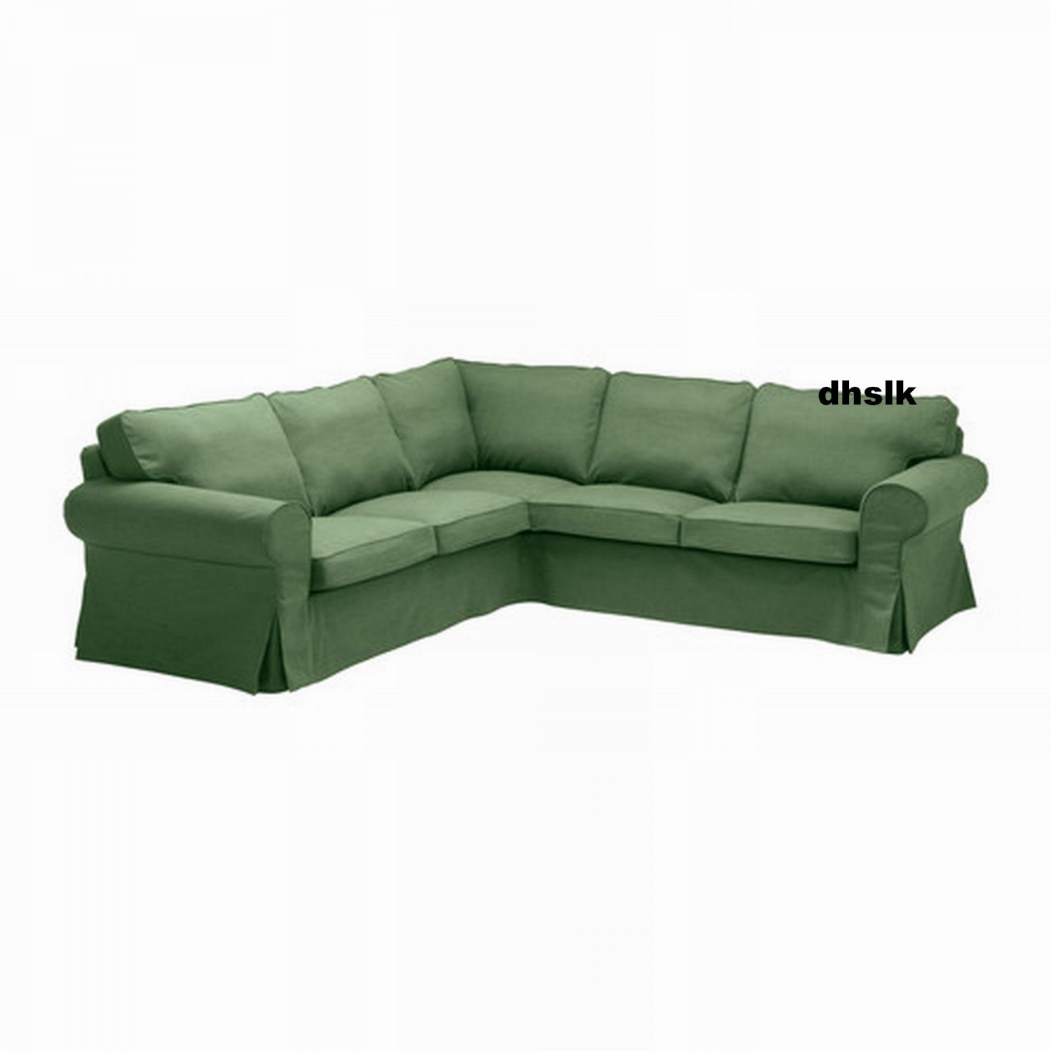 ikea ektorp 2 2 corner sofa cover slipcover svanby green. Black Bedroom Furniture Sets. Home Design Ideas