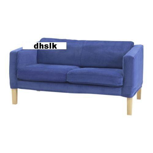 Ikea lund hogen 2 seat loveseat sofa slipcover cover mullsj blue mullsjo corduroy Blue loveseat slipcover