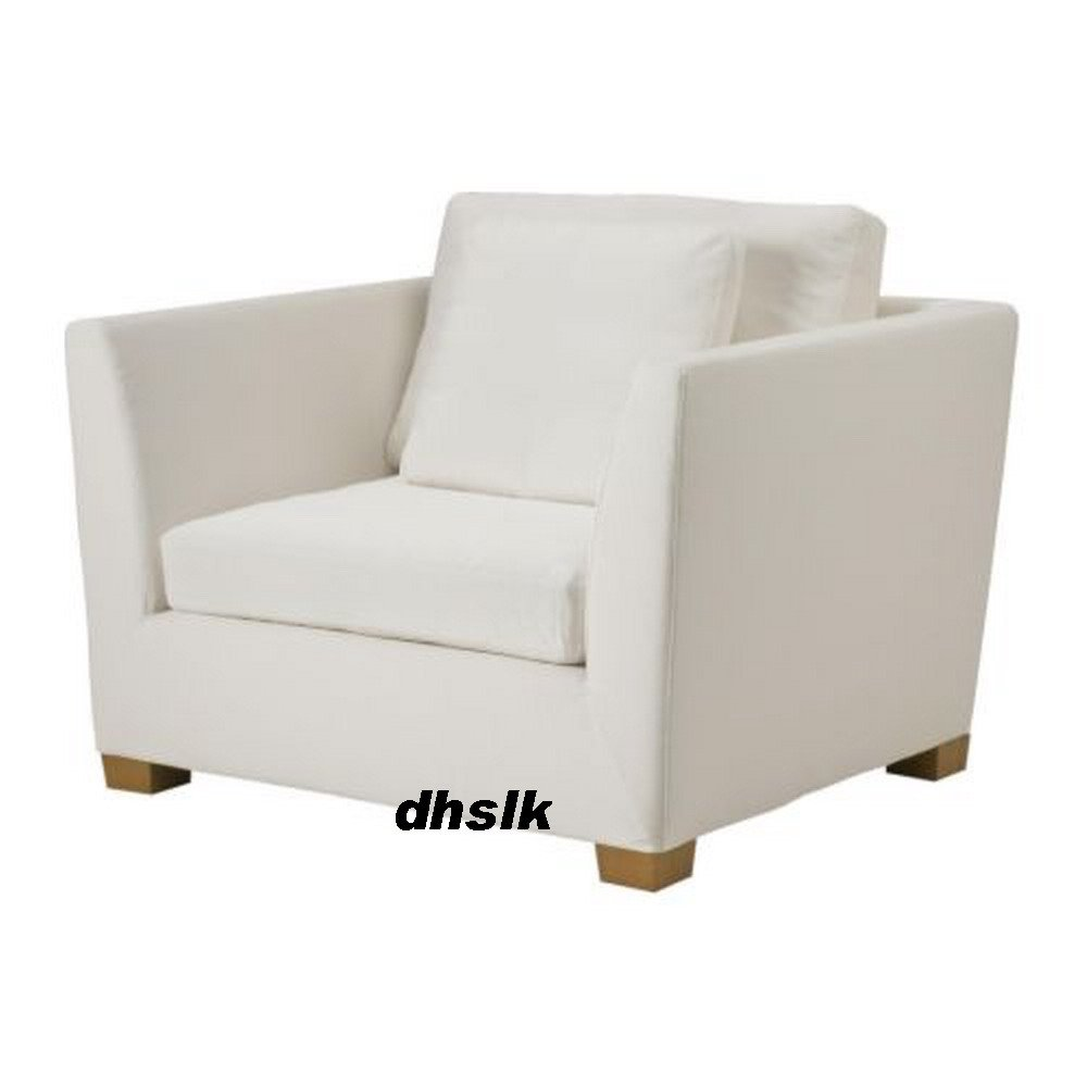 Ikea stockholm armchair slipcover chair cover rostanga for Housse sofa ikea
